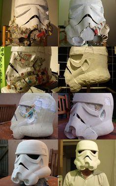 Faça seu próprio capacete de Stormtrooper - Design Depressão