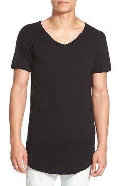 Alexander+Simai+'VU+Neck'+Elongated+T-Shirt+available+at+#Nordstrom
