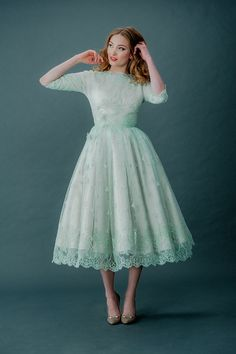 Femmes Fatale and French Fancies ~ Tinted Lace and Tea Length Wedding Dresses by Joanne Fleming Design | Love My Dress® UK Wedding Blog