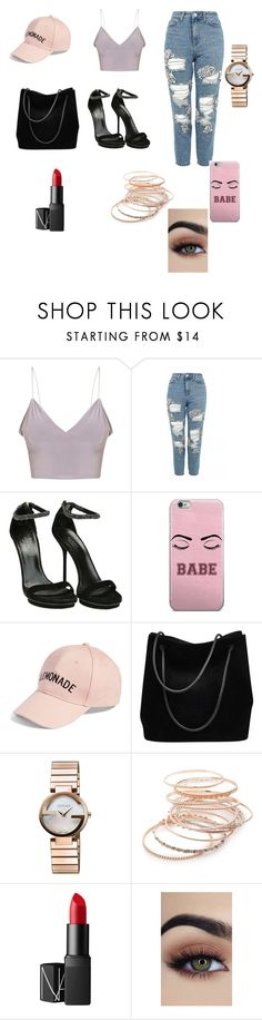 """Lemonade"" by anitacookiemonster129-1234 on Polyvore featuring Topshop, Gucci, Amici Accessories, Red Camel and NARS Cosmetics"