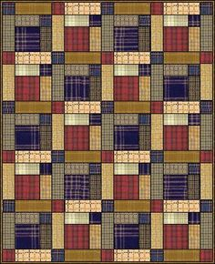 Scots Plaid quilt - could be made from men's dress shirt