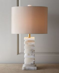 Stacked Alabaster Lamp by John-Richard Collection at Neiman Marcus.