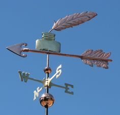 Ink Pot Weathervane and Quill by West Coast Weather Vanes