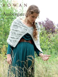 Ambergate is a cable wrap in merino and kid mohair designed by Marie Wallin for Rowan