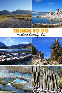 Things to do in Mono County for families include Mono Lake, June Lake, Devil's Postpile, and more. Many areas are also dog-friendly. California With Kids, California Camping, June Lake Camping, June Lake California, Bridgeport California, Us Travel, Family Travel, Mammoth Lakes California, Mammoth Mountain