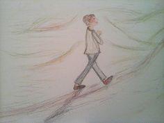 Character development illustration - evening walk