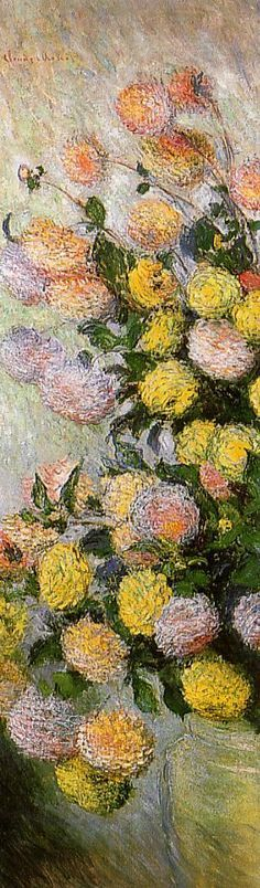 Vase of Dahlias - Monet Claude