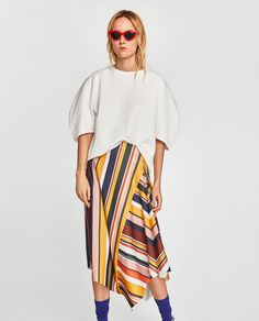 Women's New In Clothes Fashion 2018, Spring Fashion, Womens Fashion, Stripe Skirt, Skirt Pants, Zara Dresses, High Waisted Skirt, Clothes For Women, Women's Clothes