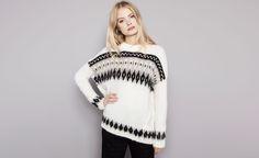 Pull&Bear - woman - knitwear - jacquard jumper  - ecru - 09556330-I2014