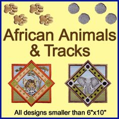 A African Animals & Tracks Design Pack