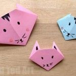 Easy Origami Cats – Paper Crafts for Kids