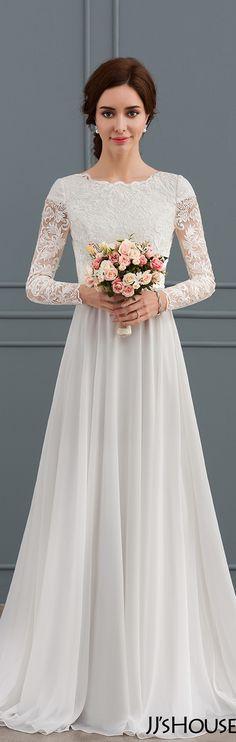 This A-Line/Princess Scoop Neck Court Train  wedding dress   is excellent#JJsHouse#Wedding
