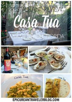 Casa Tua, a South Beach hotel and restaurant, serves delicious Norhtern Italian cuisine in its romantic garden. Find my restaurant review plus more Florida travel tips on EpicureanTravelerBlog.com!