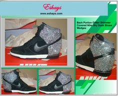 Glitter Shimmer Nike Dunk Ski Hi Sneaker Wedges- at www.eshays.com Glitter 6d35d5bfbd
