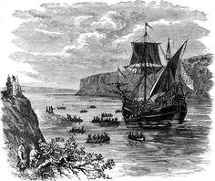 Henry Hudson: Hudson Ascends the River in Half-Moon