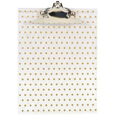 Concepts in Time Clear/Gold Dot Clipboard (1165 RSD) ❤ liked on Polyvore featuring home, home decor, office accessories, colored clipboards and gold office accessories