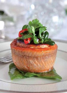 "Show- Stopping Fillet of Trout    From Kosher Elegance:: ""This is one of my signature recipes. The results are stunning, and produced with minimal effort. Once you know how easy it is, you can't resist making it. All you need is a muffin pan and fresh, skinless fillet of trout. Then stand back and watch as this dish virtually makes itself."""