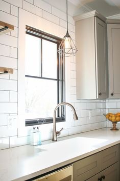 Saving Etta: Kitchen Update + Reveal Modern Farmhouse Kitchen with Sources! Modern Farmhouse Kitchens, Farmhouse Decor, Recessed Can Lights, Updated Kitchen, Kitchen Updates, Casement Windows, Open Concept Kitchen, Kitchen Decor, Kitchen Ideas