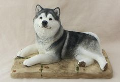 Created with great care & attention to detail by the artist,Taking hours of time and patience to paint each shade on the coat to make our Stunning Malamute