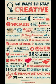 Tips for boosting creativity!