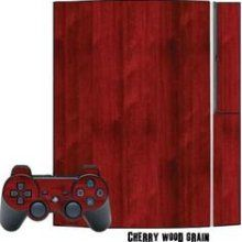 MightySkins Playstation 3 Skin - System Console Skin and Two PS3 Controller Skins - Cherry Woodgrain