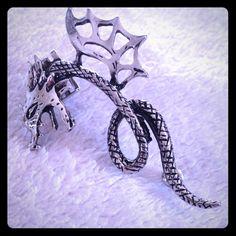 Dragon Ear Cuff Silver tone dragon ear cuff. Never worn. Jewelry