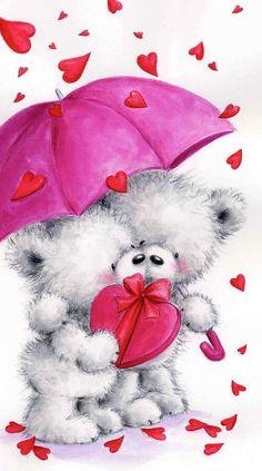 Teddy Bear Quotes, Teddy Bear Images, Teddy Bear Pictures, Tatty Teddy, Cadeau Saint Valentin Couple, Valentine Images, Bear Wallpaper, Love Bear, Cute Teddy Bears