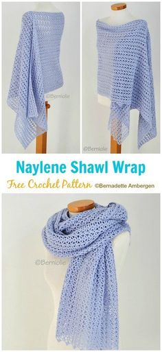 Naylene Shawl Crochet Free Pattern 2019 Naylene Shawl Crochet Free Pattern Women Shawl Free Patterns The post Naylene Shawl Crochet Free Pattern 2019 appeared first on Scarves Diy. Crochet Prayer Shawls, One Skein Crochet, Crochet Shawl Free, Crochet Wrap Pattern, Crochet Gratis, Crochet Shawls And Wraps, Crochet Scarves, Crochet Clothes, Prayer Shawl Crochet Pattern