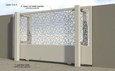 Laser cut styled sliding gate