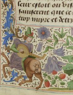 Bibliothèque nationale de France, Département des manuscrits, Français 2643, detail of f. 72r. Chroniques sire Jehan Froissart. Bruges, c.1470-75.