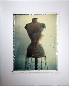 Fuji Emulsion Transfer on 300gsm Fabriano paper....Virginia Guy  100 yr old Dressmakers Mannequin