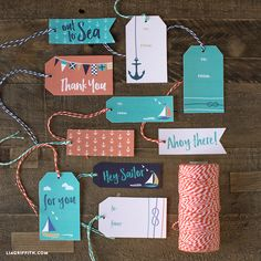 Browse our variety of stylish nautical gift tags for summer presents and Father's Day gifts. These are great for sailors, beach lovers, and lake dwellers! Creative Gift Wrapping, Creative Gifts, Wrapping Ideas, Nautical Gifts, Scrapbooking, Paper Crafts, Diy Crafts, Gift Tags Printable, Beach Crafts