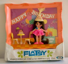 Flatsy Dolls - Created by Ideal Toy Company from '69 to '73... #retro OMG I had this!!!! I loved Flatsy!