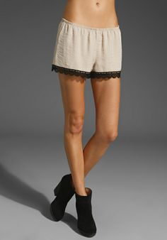 d039e2b604 SHOW ME YOUR MUMU Bri Silky Satin Lacey Shorts in Nude at Revolve Clothing  - Free