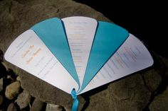 Fan shaped wedding program