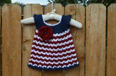 Crochet Baby Girl Dress Newborn Baby Dress by FuzzyStitchesCrochet