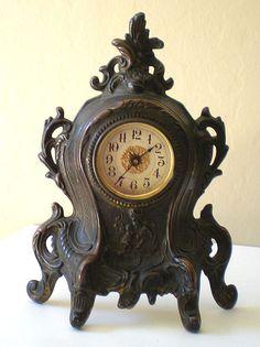 Early Ornate Clocks | Early 1900's Ornate Westclox Mantle Alarm Clock