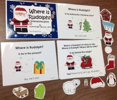 $ Christmas Speech Therapy: Pages from Where is Rudolph? Interactive Storybook, PowerPoint and huge pack of activities: Phonological Awareness, Verbs, Prepositions, Matching, & more. #literacycenters #speechtherapy #winter
