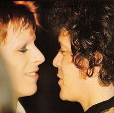 """David Bowie and Lou Reed, 1973 Angela Bowie, David Bowie, David Gilmour, Duncan Jones, Ziggy Played Guitar, Best Friend Day, The Thin White Duke, Ziggy Stardust, Rock Legends"