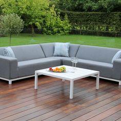 Groovy Cosi Frejus Weatherproof 6 Seater Garden Corner Sofa Set Inzonedesignstudio Interior Chair Design Inzonedesignstudiocom