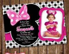 minnie mouse invitations on Etsy, a global handmade and vintage marketplace.