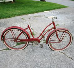 Antique Rustic Red JC Higgins Women's Bicycle  by sariloaf on Etsy, $85.00