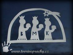 Vystřihovánka Tři králové Winter, Crafts, Prague, Christmas Time, Winter Time, Manualidades, Handmade Crafts, Craft, Arts And Crafts