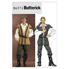 Men Fashion Accessories Patterns Mccalls Simplicity Renaissance Fair SCA Butterick