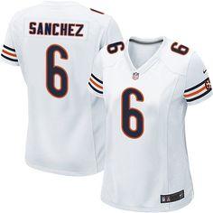 Women's Nike Chicago Bears #6 Mark Sanchez Limited White NFL Jersey