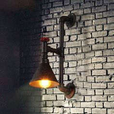Loft Vintage Restaurant Bar Industrial American Country Study Lamp Light Pipes Creative Wall Lamps FLRE39 Free Shipping