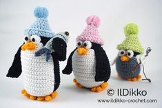 Using the given yarn and hook size LL Cool P will be 15 cm, Ice P will be 14 cm and Ice Ice Baby will be 11 cm tall. The pattern is available in English (American terminology) and can be purchased in my Etsy shop or on Craftsy. The pattern is very detailed and contains […]