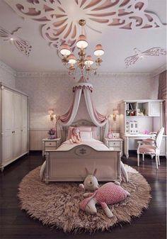 Feminine bedroom interior design for little girl's bedroom Girls Bedroom, Teenage Girl Bedrooms, Blue Bedrooms, Childs Bedroom, Small Room Design, Kids Room Design, Bed Design, Cute Bedroom Ideas, Awesome Bedrooms