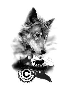 wolf tattoo sketch
