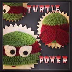 Teenage Mutant Ninja Turtle Crochet Hat by ECooksCreations